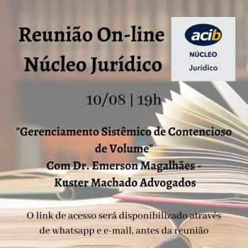 Reunião online do Núcleo Jurídico - ACIB